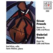 Franck, Fauré: Music for Cello & Piano / Klein, Melinte
