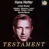 Hans Hotter - Lieder Recital - Schubert, Schumann, et al