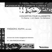 Splendor of the Classical Clarinet - Concertos / Rapin, etc