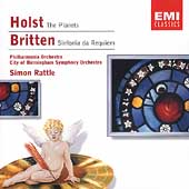Holst: The Planets;  Britten: Sinfonia da Requiem / Rattle