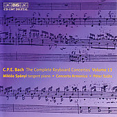 C.P.E. Bach: Complete Keyboard Concertos Vol 13 / Sp&#225;nyi