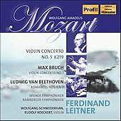 Mozart, Bruch: Violin Concerti / Schneiderhan, Leitner