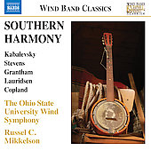 Southern Harmony - Kabalevsky, Stevens, Grantham - Music For Winds