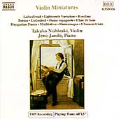 Violin Miniatures / Takako Nishizaki, J&eacute;n&ouml; Jand&oacute;