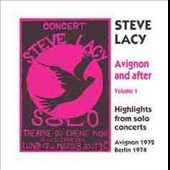 Steve Lacy: Avignon and After, Vol. 1