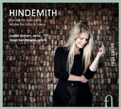 Hindemith: Sonata for solo cello; Works for cello & piano / Judith Ermert, cello; Daan Vandewalle, piano