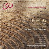 Stravinsky: Oedipus Rex, Apollon musagète / Jennifer Johnston (mz), Skelton (tenor), Saks (bass-baritone), Fanny Ardant (narr.), Monteverdi Choir, London SO, Gardiner