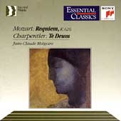 Mozart: Requiem; Charpentier: Te Deum / Jean-Claude Malgoire