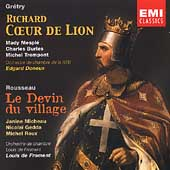 Gr&eacute;try: Richard Coeur de Lion;  Rousseau / Doneux, et al