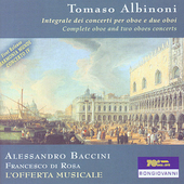 Albinoni: Complete oboe and two oboes concerti / Parravicini
