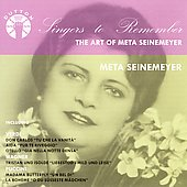 Singers to Remember - The Art of Meta Seinemeyer