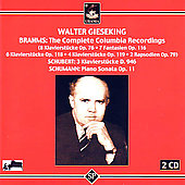 Brahms, Shubert, etc: Solo Piano Works / Gieseking
