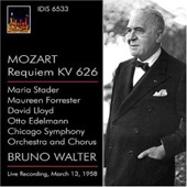 Mozart: Requiem / Walter, Stader, Forrester, Lloyd, Edelmann, Chicago SO