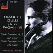 Franco Gulli Plays Paganini / Violin Concertos 1 & 5