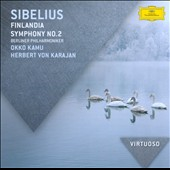 Sibelius: Finlandia; Symphony No. 2 / Kamu, Karajan, Berlin PO