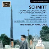 Florent Schmitt: Complete Original Works for Piano Duet & Duo, Vol. 4 / Invencia Piano Duo