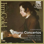 Haydn: Concertos for piano in G Major, Hob. XVIII:4; in F Major, Hob. XVIII:6; in D Major, Hob. XVIII:11 / Andreas Stier, pianoforte. Freiburger Barockorchester, Goltz