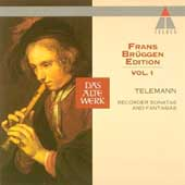 Telemann: Recorder Sonatas & Fantasias / Br&uuml;ggen, Bylsma