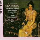 Glazunov: The Piano Sonatas, Three Etudes, etc / M Damerini