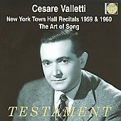 Cesare Valletti sings Mozart, Scarlatti, Schubert, Berlioz, etc