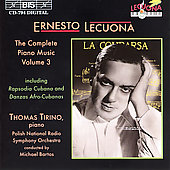 Lecuona: Complete Piano Music Vol 3 / Thomas Tirino