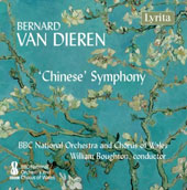 Bernard van Dieren (1887-1936): 'Chinese' Symphony, Intro to Toppers' Tropes, Elegy for Orchestra and Solo Cello / Raphael Wallfisch, Cello; Rebecca Evans, Sop.; Catherine Wyn Rogers; Nathan Vale, Ten; Morgan Pearse, Bar.; David Soar, Bass