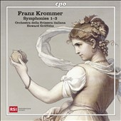 Franz Krommer (1759-1831): Symphonies 1-3 / Howard Griffiths, Orchestra della Svizzera Italiana
