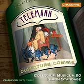 Telemann: Ouverture Comique, etc / Collegium Musicum 90