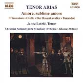 Amore, sublime amore - Tenor Arias / Lotric, Wildner, Tansky