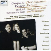Unquiet Peace - The Lied Between the Wars / Sieden, Sharp