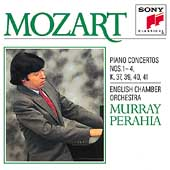 Mozart: Piano Concertos nos 1-4 / Perahia, English CO