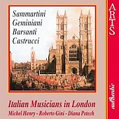 Italian Musicians in London - Sammartini, Geminiani, et al