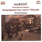 Martinu: String Quartets Vol 1 / Martinu Quartet