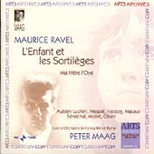 Ravel: L'enfant et les Sortil&#232;ges / Maag, RAI Rome Orchestra