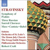 Stravinsky: Symphony of Psalms, etc / Robert Craft, et al