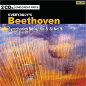 Beethoven: Symphonies no 4, 8 & 9