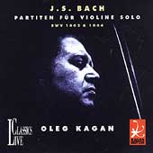 Bach: Partitas for Violin Solo no 1 and 2 / Oleg Kagan