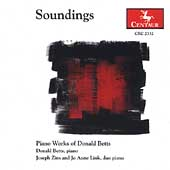 Soundings - Piano Works of Donald Betts
