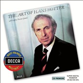 The Art of Hans Hotter - Schubert: Schwanengesang; selected lieder; Songs of Hugo Wolf / Geoffrey Parsons