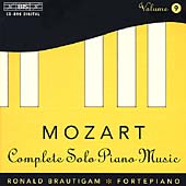 Mozart: Complete Solo Piano Music Vol 9 / Ronald Brautigam