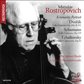 A Romantic Portrait' Dvorak: Cello Concerto; Schumann: Cello Concerto; Tchaikovsky: Pezzo Capriccioso, Op. 62 / Mstislav Rostropovich, cello; Boult; Rozhdestvenski