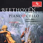 Beethoven: Sonatas for Piano and Cello Vol 1 / Miller, et al