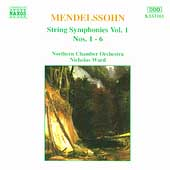 Mendelssohn: String Symphonies Vol 1 / Ward, Northern CO