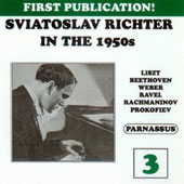 Sviatoslav Richter in the 1950s, Vol. 3 / Liszt, Beethoven, Weber, Ravel, Prokofiev