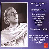 Wagner: Scenes from Rienzi, Tristan, etc / August Seider