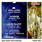 Poulenc: Organ Concerto; Widor, Guilmant / Tracey, Tortelier