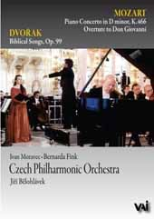 Mozart: Piano Concerto No. 20; Dvorák: 5 Biblical Songs / Moravec, Fink, Belohlávek/Czech PO (Live, Prague, 1991) [DVD]