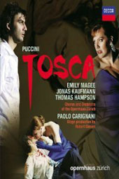 Puccini: Tosca / Emily Magee, Jonas Kaufmann, Thomas Hampson. Zurich Opera, Paolo Carignani [Blu-ray]