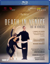 Elegance, The Art of Patrice Bart: Death In Venice, a dance of death freely adapted from Thomas Mann's Novella. Music by Bach & Wagner / Hamburg Ballett [Blu-ray]