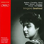 Irmgard Seefried: Recital
